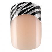 Sada 24 umlch neht Idyllic nails - zebra