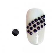 Štrasové kamínky pro zdobení nehtů 100ks noir SS3