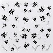 Dekorativní obtisky na nehty Black & White