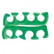 1 pár silikonových oddělovačů prstů na nohou - zelený