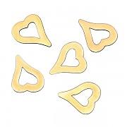 Zlaté kovové ozdoby na nehty  Sáček po 48 ks - heart