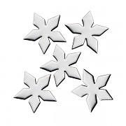 Stříbrné kovové ozdoby na nehty  Sáček po 48 ks - star