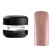 Barevné UV gely pro aplikaci na nehty - Třpytivý UV gel nude or - 5g