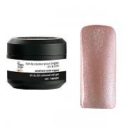 Barevné UV gely pro aplikaci na nehty - Třpytivý UV gel nude argent - 5gTechni Gel Color It! Sytě barevný gel.