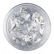 Metalizované nehtové fólie - argent