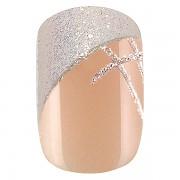 Sada 24 umělých nehtů Idyllic nails - shiny French