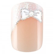 Sada 24 umělých nehtů Idyllic nails - French bow