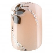 Sada 24 umělých nehtů Idyllic nails -  shiny flowers
