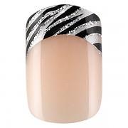 Sada 24 umělých nehtů Idyllic nails - zebra