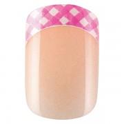 Sada 24 umělých nehtů Idyllic nails - pink vichy
