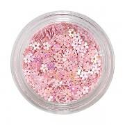 Zdobící kytičky na nehty - pink holo flowers - 6g