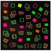 Dekorativní neonové obtisky na nehty - 149908