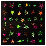 Dekorativní neonové obtisky na nehty - 149909