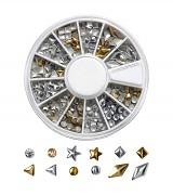 Ozdoby na nehty 149918 - gold/silver, různé druhy